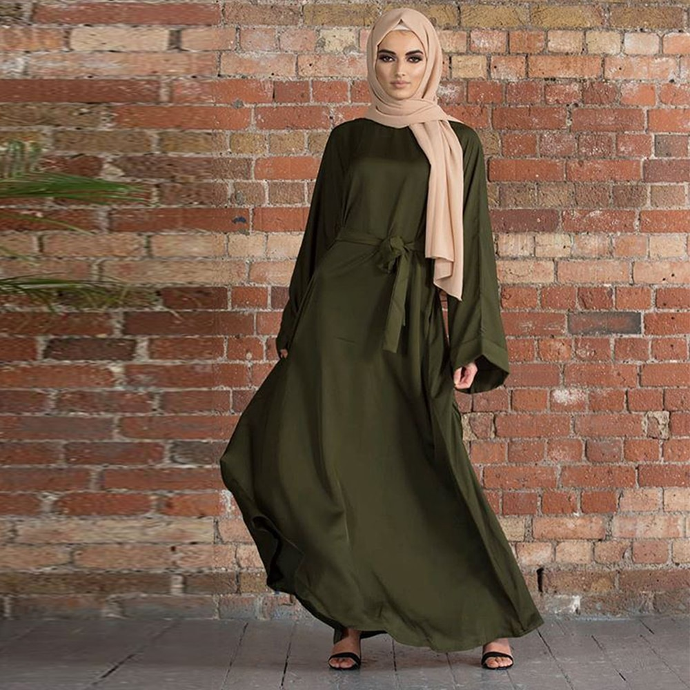 Middle Eastern Style Muslim Fashion Hijab Dresses For Women