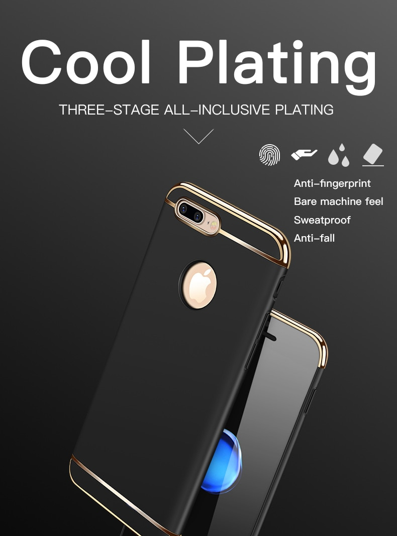 Luxury 3 in 1 PC Hard Phone Case For iPhone 12 11 Pro Max Shockproof Back Cover iPhone 5 5s se 6 6s 7 8 Plus X Xr Xs Max Cases