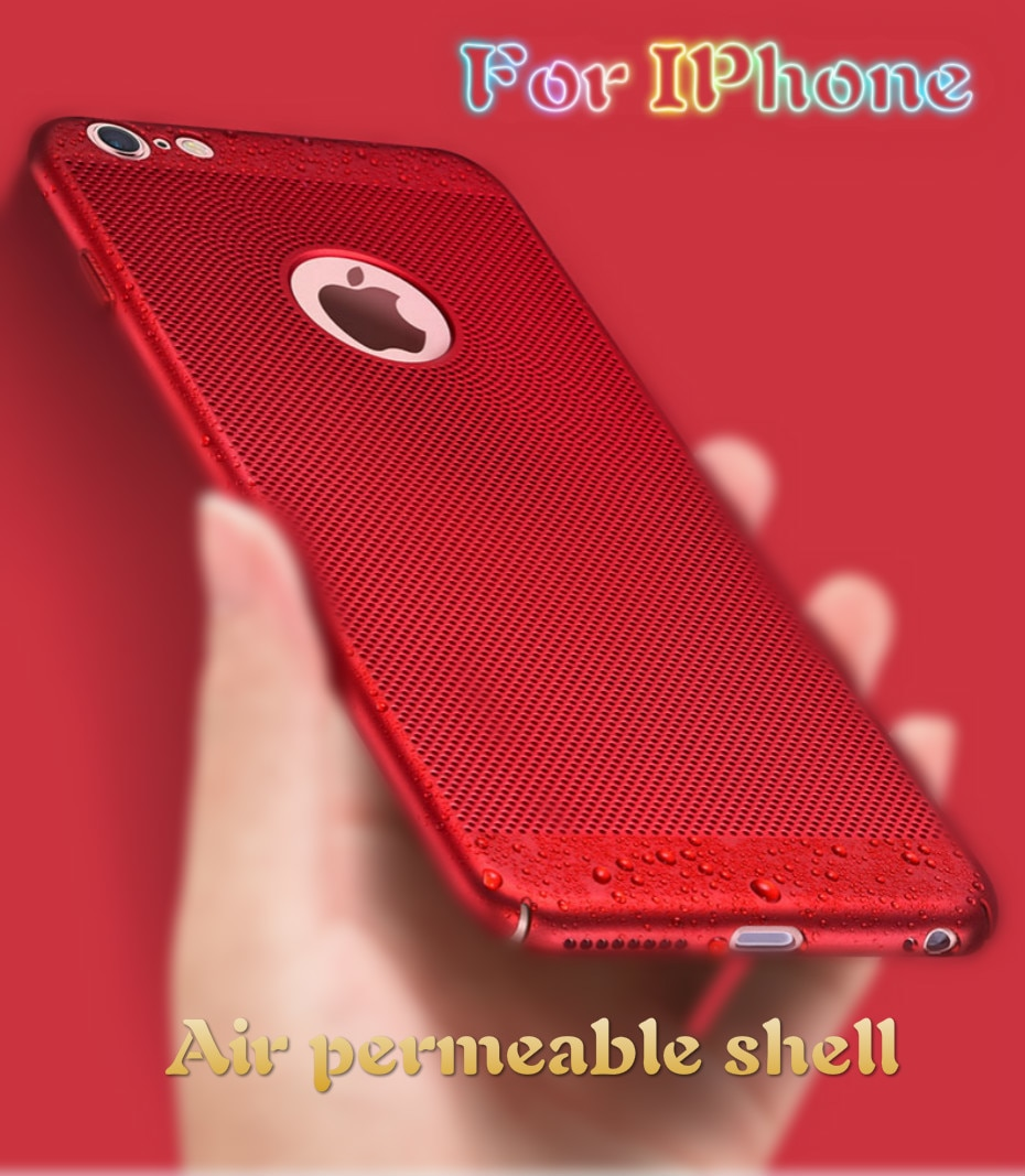 TNSULY Air Permeable Case For IPhone 5 6 S 7 8 Plus X Matte Shell Heat Dissipation Breathable Abrasive Crust XR 11 Pro Max