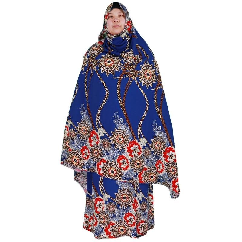 Cotton Printed Long Maxi Praying Dress