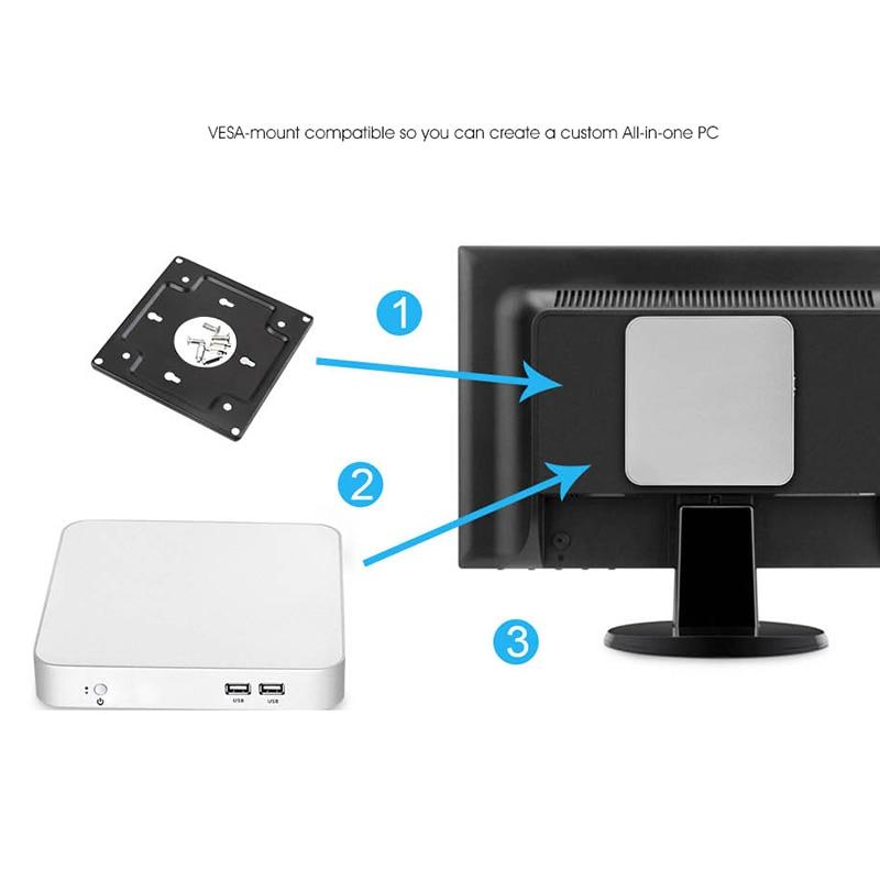 XCY Mini PC computer Intel Core i7 7500U i5 7200U 3317U Processor windows/10 linux Gaming PC 4K UHD HTPC VGA WiFi desktop X26UL