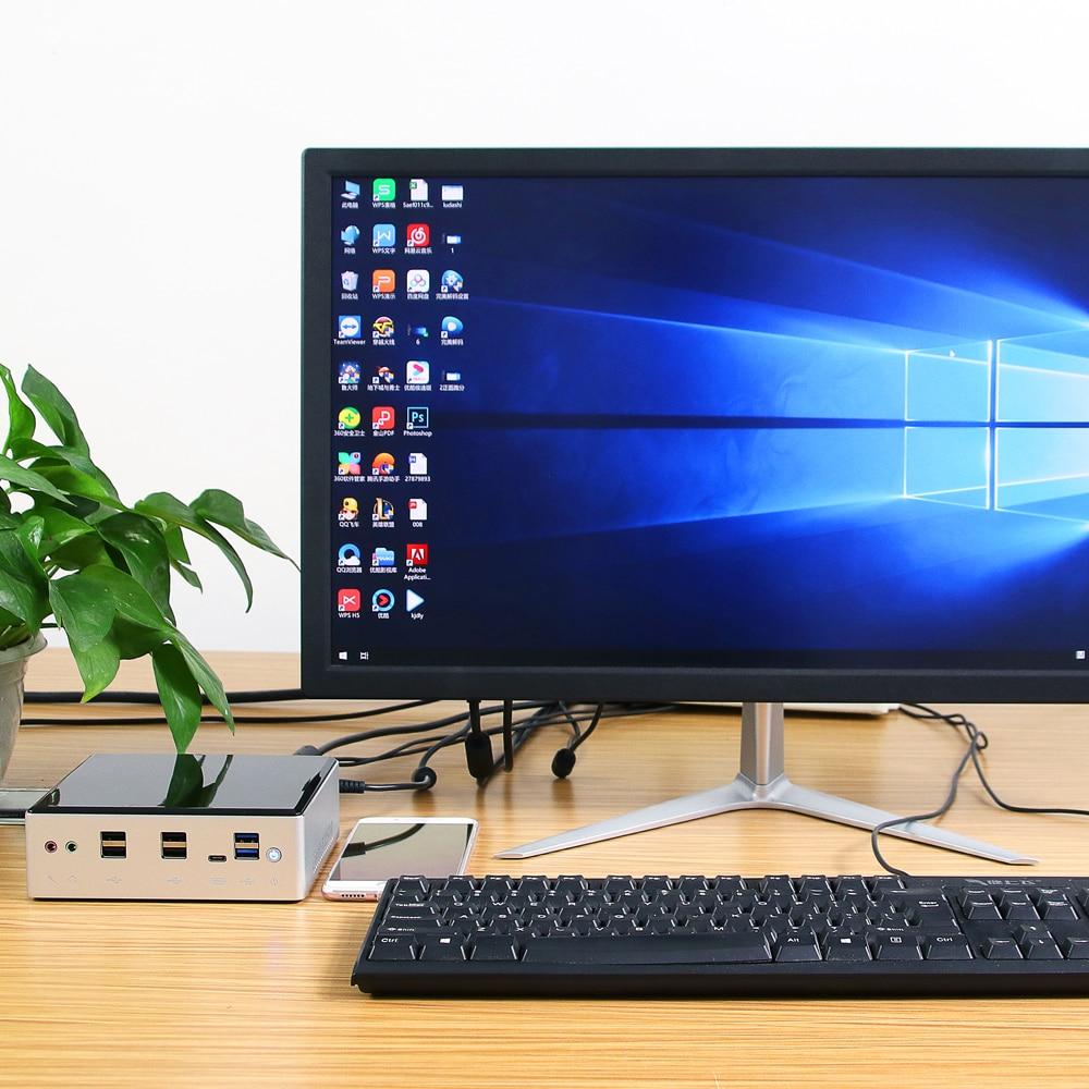Mini PC Intel Core i7 10510U 2*DDR4 M.2 SSD NVMe Windows 10 Linux Dual-Band WiFi HDMI-Compatible DP 4K 60Hz USB-C 2*Ethernet