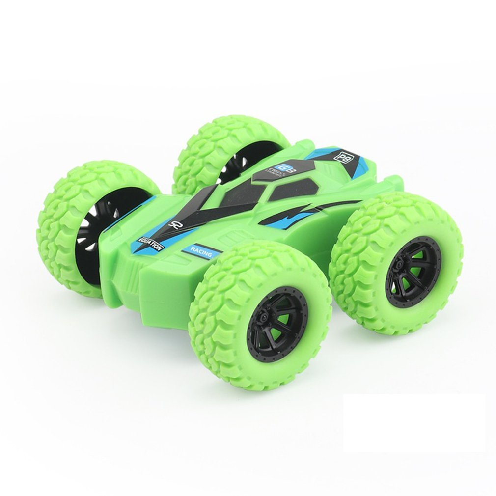 Children Inertia Double-sided Dump Truck Resistant Falling 360 Tumbling Spinning Toy Car Turned To Kid Gift Toys