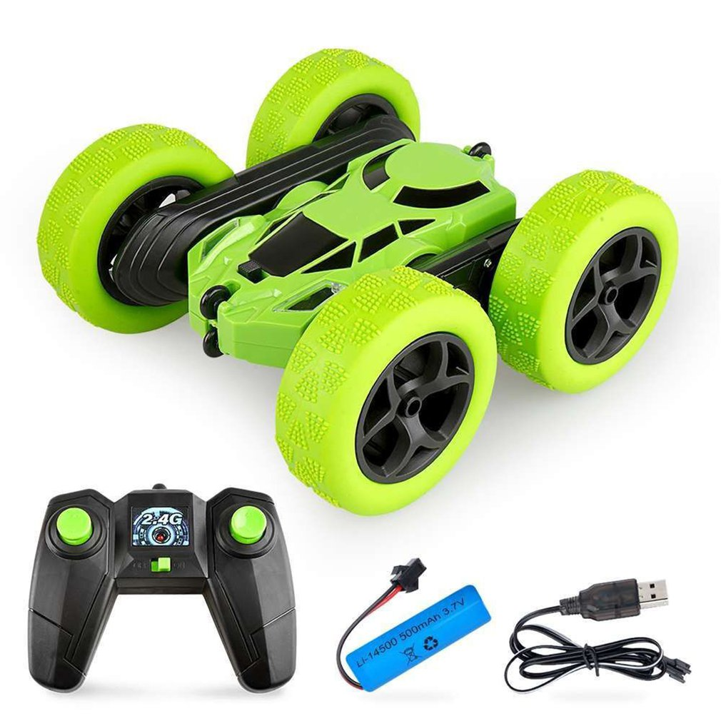 Double-Sided 360° Rotating And Tumbling Stunt Car Twisting Car 2.4G Charging Anti-Fall Light Children'S Remote Control Car