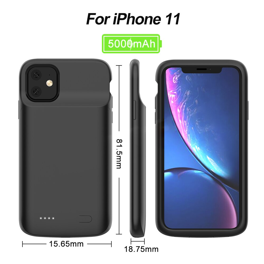 Battery Charger Case For iPhone 11 Case for iPhone 5S SE 6 6S 7 8 Plus X XR XS MAX Pro Portable Power Bank Charger