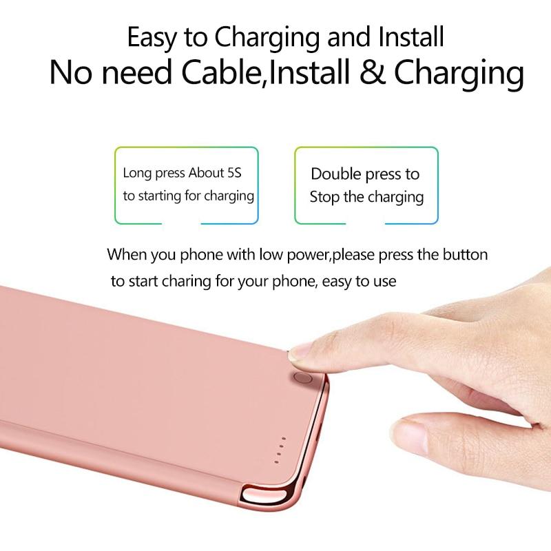 3500mah External battery Phone Charging Case For iPhone 6 6s 7 8 4000mAh External Phone battery Case For 6 6s Plus 7Plus 8Plus