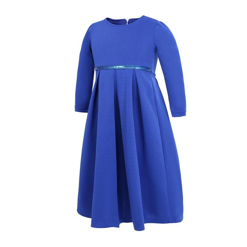 3 Peice Muslim Child Girls Hijab+Bow+Dress Islamic Arab Abaya Kids Ramadan Long Sleeve Middle East Maxi Dresses Kaftan Clothing