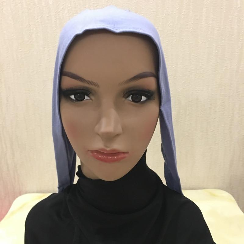 Cotton Hijab Cap Islamic Head Wear Hat Under scarf Bone Bonnet
