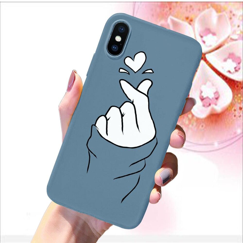 iPhone Cute Love Heart Couple Fashion Case Soft Silicone Cover