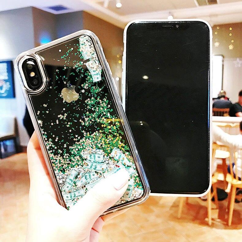 iPhone Case  Max Dynamic Liquid Hard Cover - Glitter Cases