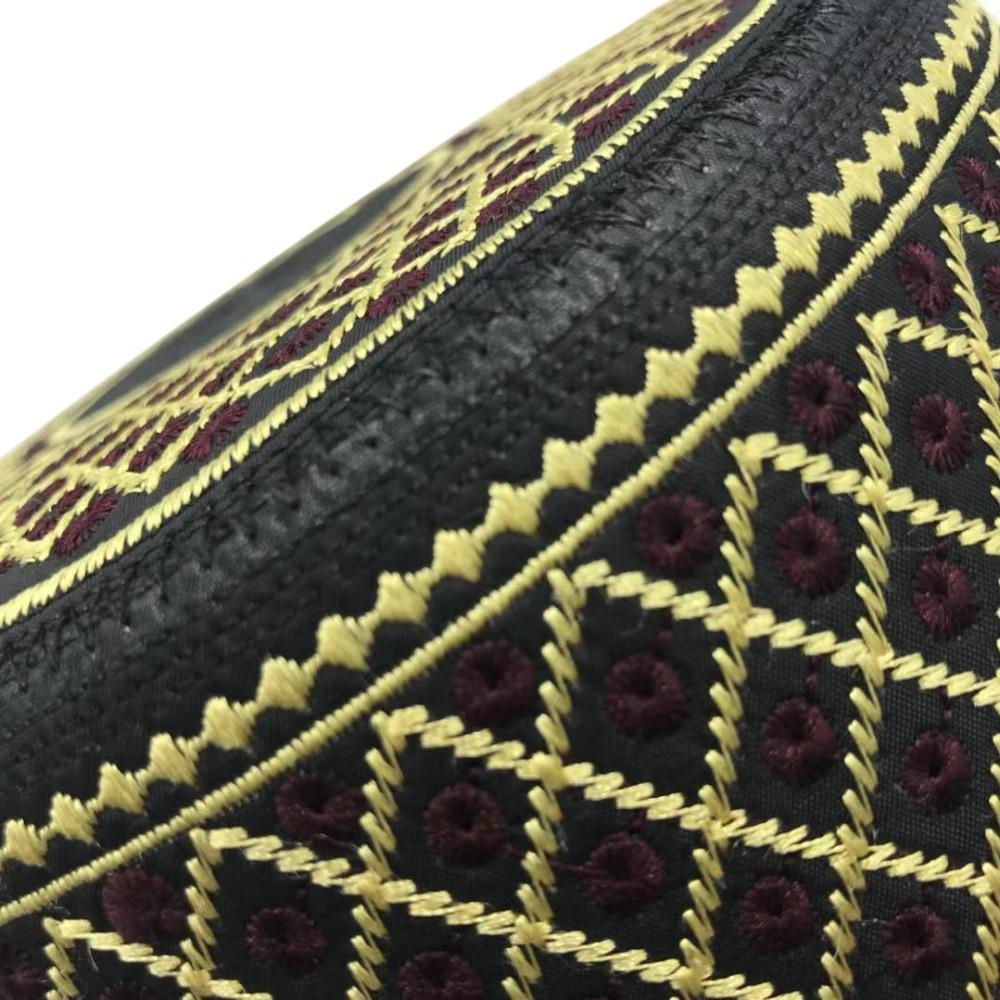 Muslim Hats Cotton Embroidery Islamic Men Prayer Arab Clothing Caps Saudi Arabia Indian Turban Bonnet Musulman Man Hijab Hat