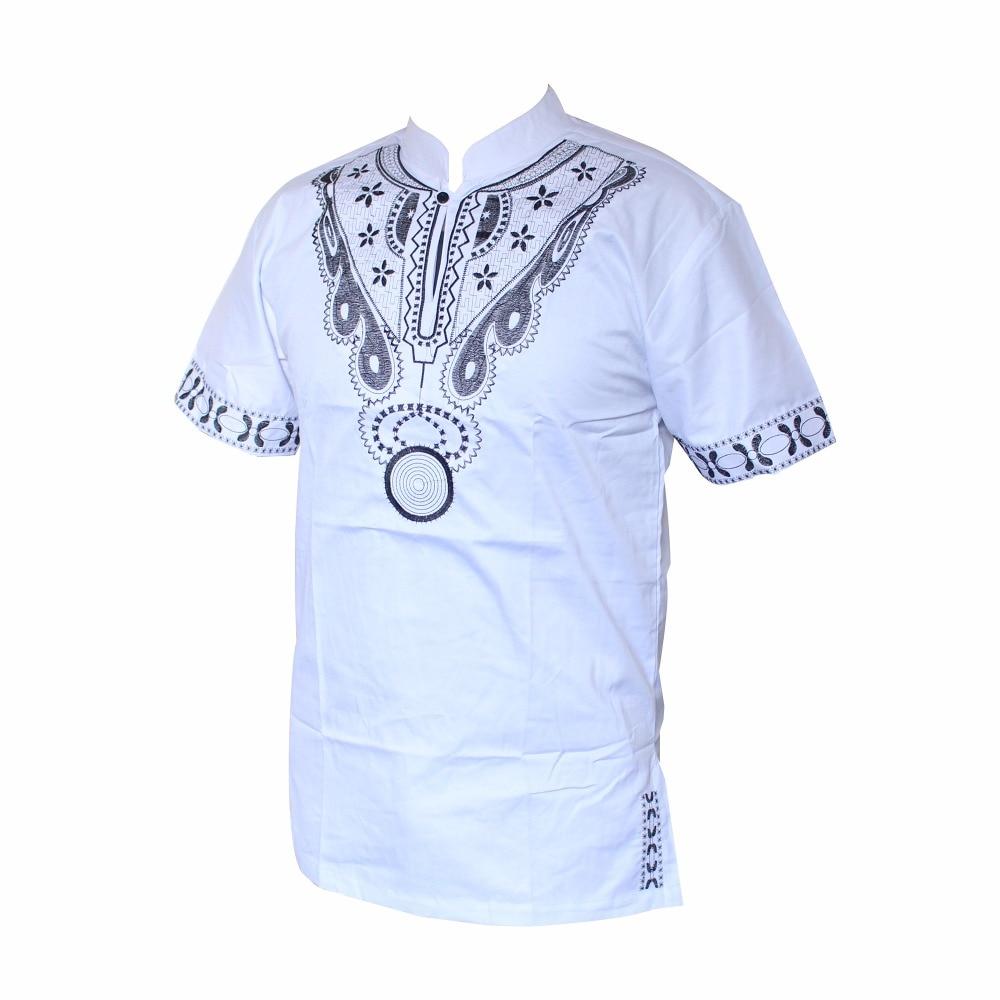 Dashiki ropa hombre kurta men Muslim t-Shirt African Haute Tribal Embroidered Ankara T-shirt рубашка мужская рубашка мужская