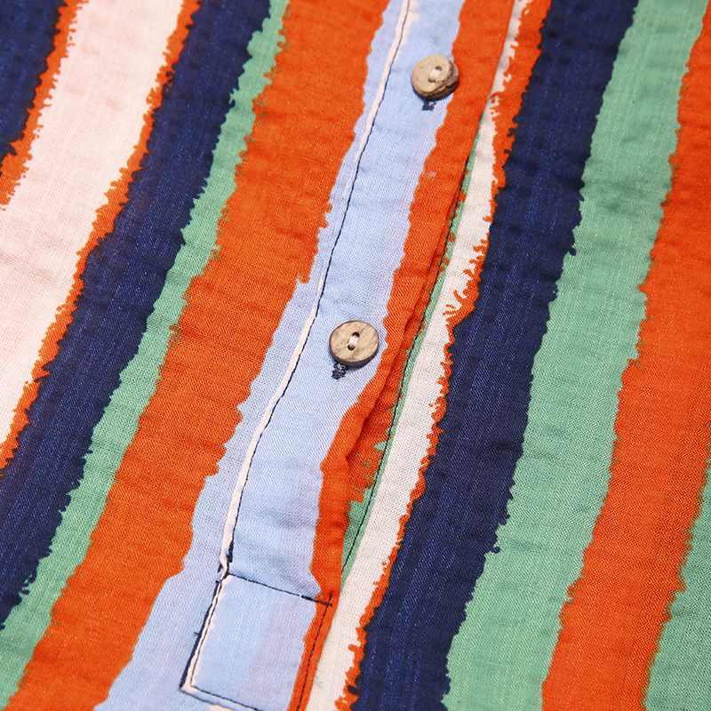 Men Saudi Style Striped Jubba Thobe Men Pockets Abaya Muslim Kaftan Robe Long Sleeve V Neck Islamic Arabic Clothing 5XL INCERUN