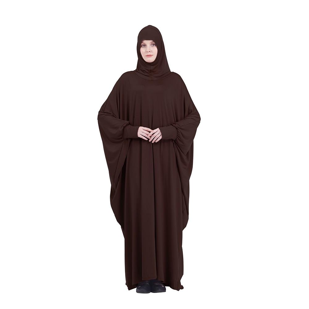 Arab Middle East Ramadan Muslim Women's Islamic Dress Islam With Large Sleeves For Women Hijab with Skirt Plain Prayer Clothing