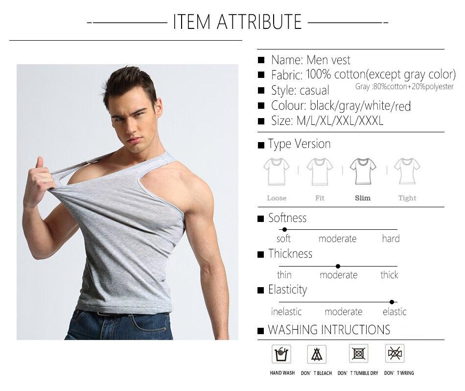 TFETTER Men's Underwear Cotton Tank Top Men High Quality Bodybuilding Singlet Sleeveless Slim Fit Vest Men Tank Tops