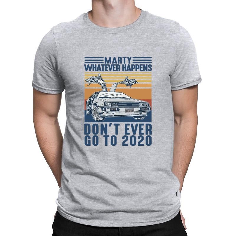 Envmenst 100% cotton t-shirt marty whatever happens don't ever go to 2020 men's short-sleeve off white men clothing tops tees