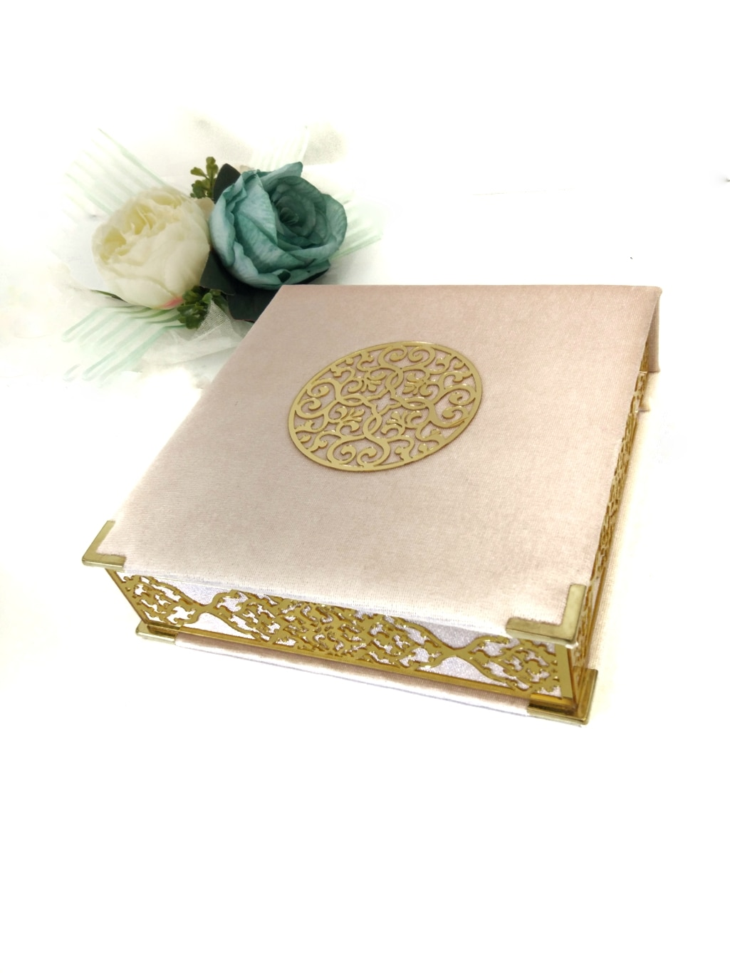 21 * 21 Ottoman Quran Set Islamic Gifts Velvet Coating On Wood Box Muslim Set Vedding Luxury Decoration Amin Favors Eid Mubarak