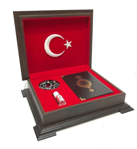 Turkish Quran Box Gifts Wooden box Personalized Muslim set islamic Tasbih Essence Islamic luxury decoration Eid Fine Fragrance