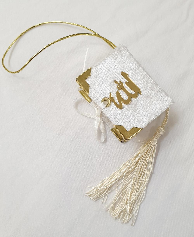 Mini Quran Islamic Gift 5-10-20-50 Pcs Lot Package Favors Eid Mubarak Economic Umrah Hajj Mawlid Rearview Mirror Ornament Arabic