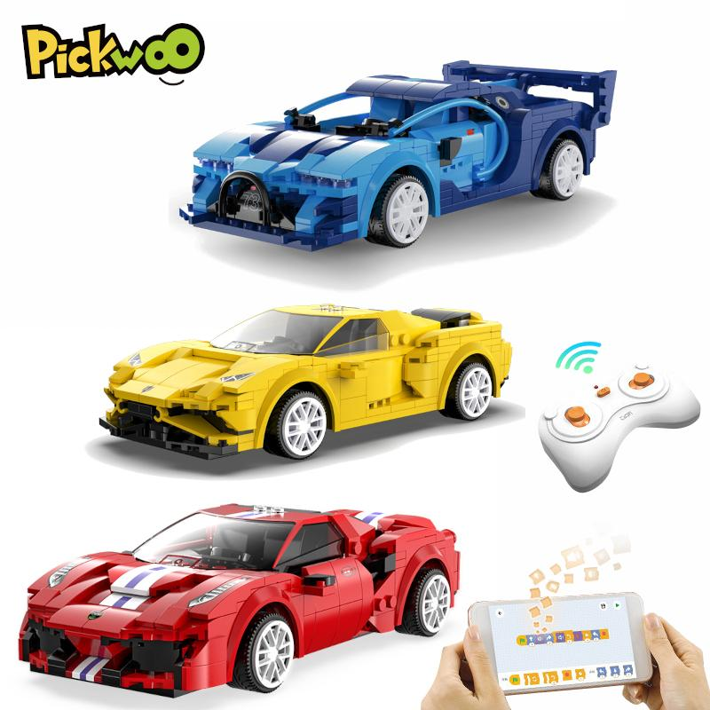 Pickwoo D25 City RC Racing Car Building Blocks Compatible MOC high-tech Remote Control Super Sports Vehicle Bricks Gifts Toys