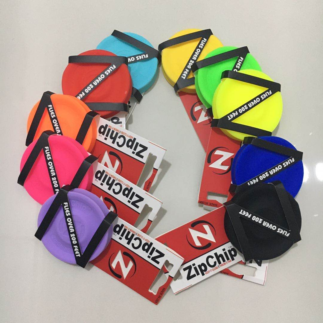 10 different Color Mini Pocket Flexible Zip Chip Flying Discs can choose Soft New Spin Zipchip In Catching Game Flying Disc