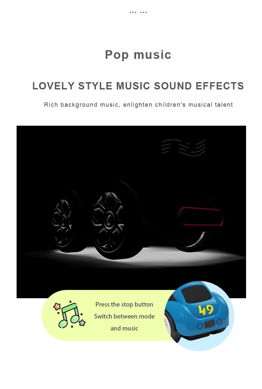 Mini RC Intelligent Sensor Car Radio Controlled Electric Cute Cars Remote Control Car Cartoon Mode Smart Music Light Vehicle Toy