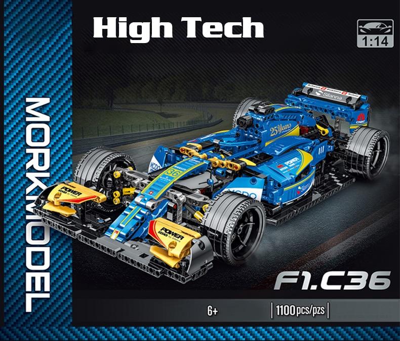 Expert Famous Sport Car Building Blocks Super Speed F1 Racing Vehicle Model Bricks Toys Birthday Gift For Boyfriend