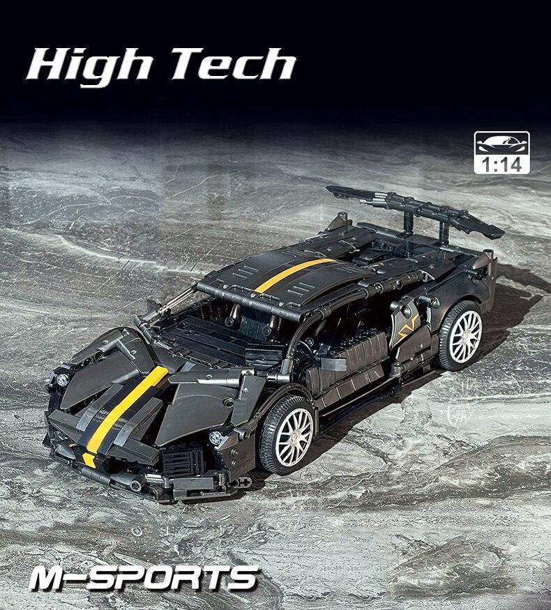Famous Super Speed Car Building Blocks Sport Racing Vehicle Model Bricks Toys Birthday Gift For Boyfriend