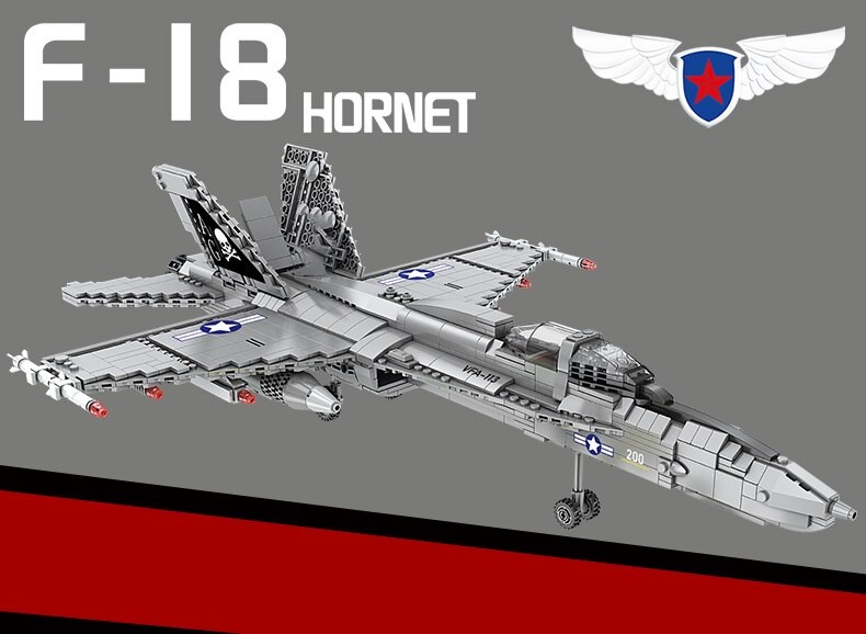 New High-tech Creator Air Force Weapons Series Building Blocks Fighter Plane Aircraft Bricks Toys Birthday Gift For Boyfriend
