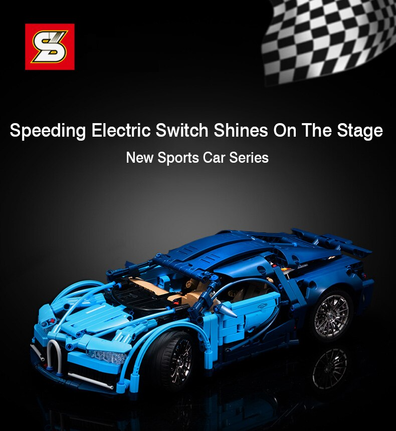 Expert Super Sport Racing Vehicle Model Building Blocks Speed Car Bricks DIY Toys Birthday Holiday Gift For Boys
