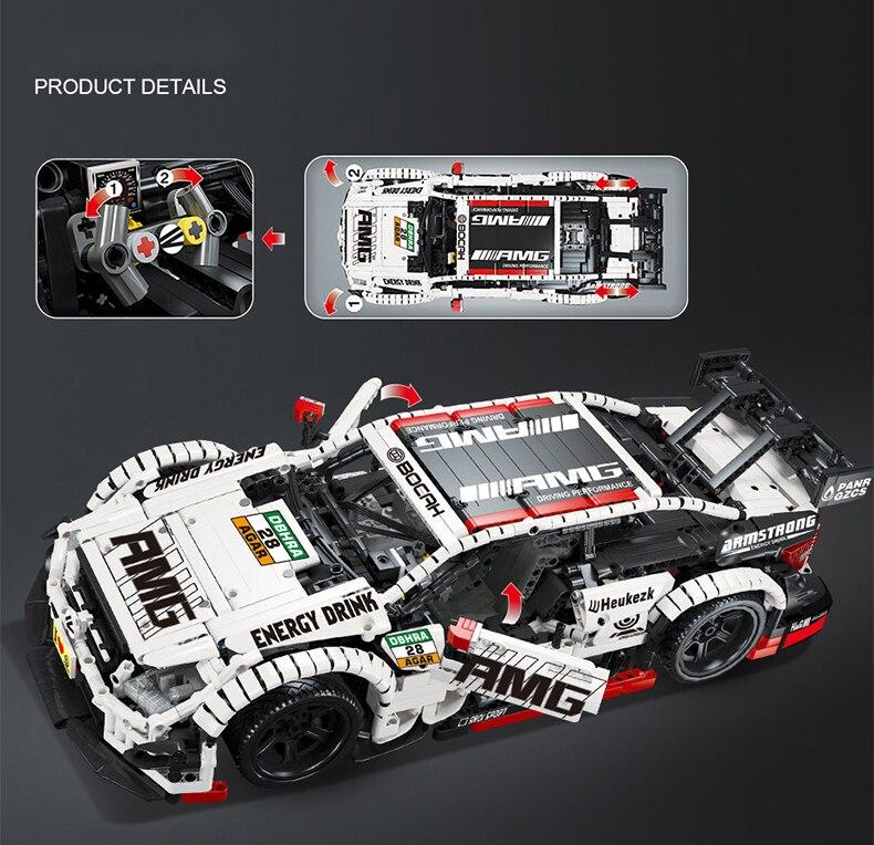 High-tech Expert Super Sport Car Building Block Speed Racing Vehicle Simulation Model Bricks Toys Birthday Gift For Boyfriend