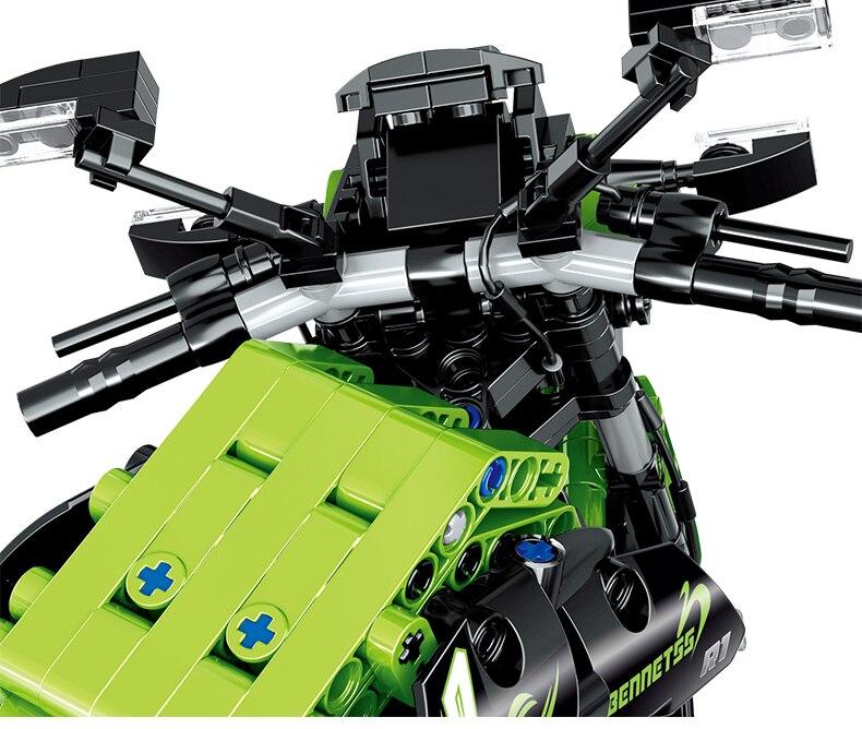 Creator High-tech Off-road Motorcycle Building Blocks Transportation Series Bricks Toys Birthday Gift For Children
