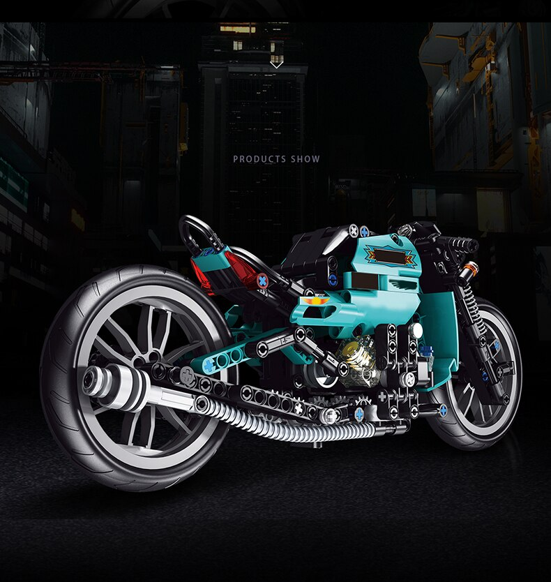 High-tech Expert MOC Famous Motorcycle Building Blocks Racing Speed Motorcycle Bricks Assembly Toys Birthday Gift For Children