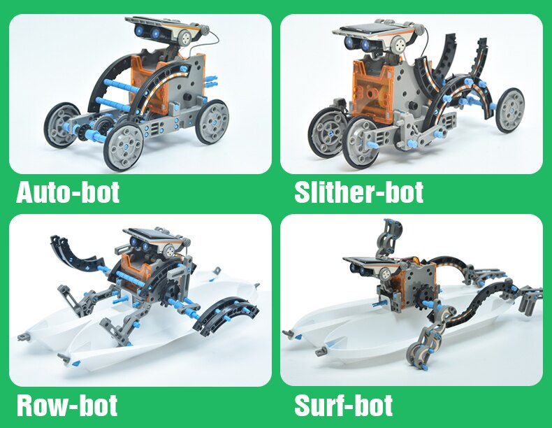 12 In1 High-tech Creative Intelligent Solar Energy Robot Science Educational Toys Birthday Winter Holiday Gift For Children