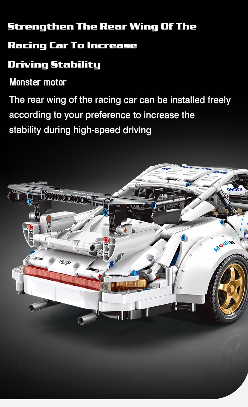 High-tech Expert MOC Famous Super Speed Car Building Blocks Racing Sport Vehicle Bricks DIY Set Toys Birthday Gift For Children