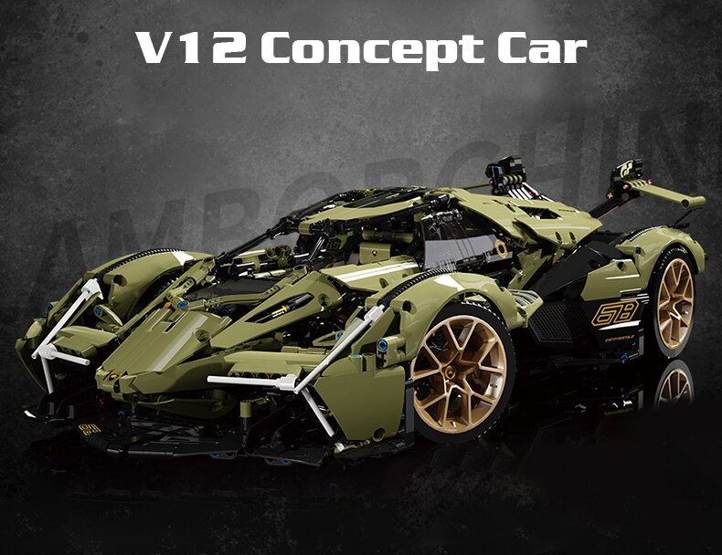 MOYU High-tech MOC Expert Super Racing Car Building Blocks Sport Vehicle Model Brick Educational Toys Birthday Gift For Children
