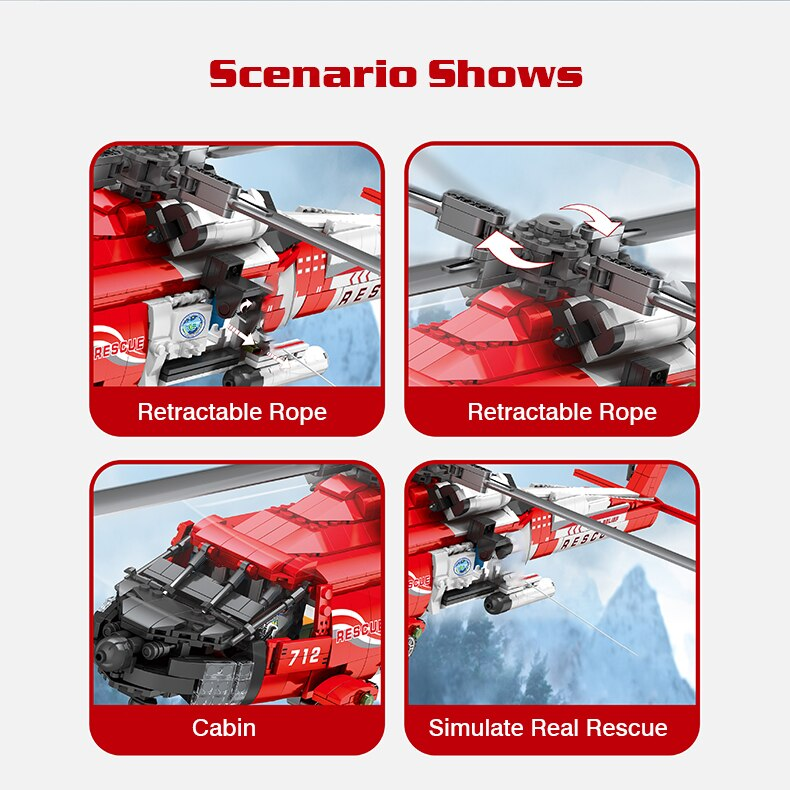 Ideas Creator Air Force Helicopter Building Blocks Military Plane Aircraft Bricks Educational DIY Set Toys Gift For Children