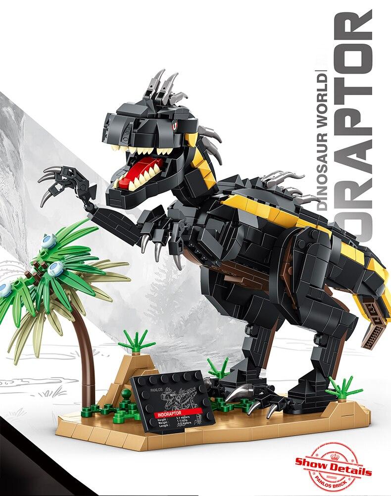 Creator Ideas Animal Building Blocks Jurassic Dinosaur Animal World Park Bricks Educational Toys Birthday Gift For Children