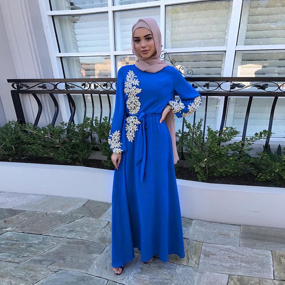 Turkey Style Women Hijab Dress Islam Caftan