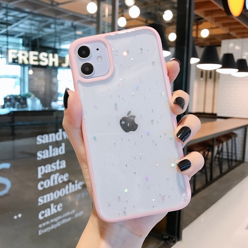 Twinkle Candy Transparent Phone Case For iPhone 11 12 mini Pro Max XS X XR 7 8 6 6S plus SE 2020 Soft Shockproof Cases Cover