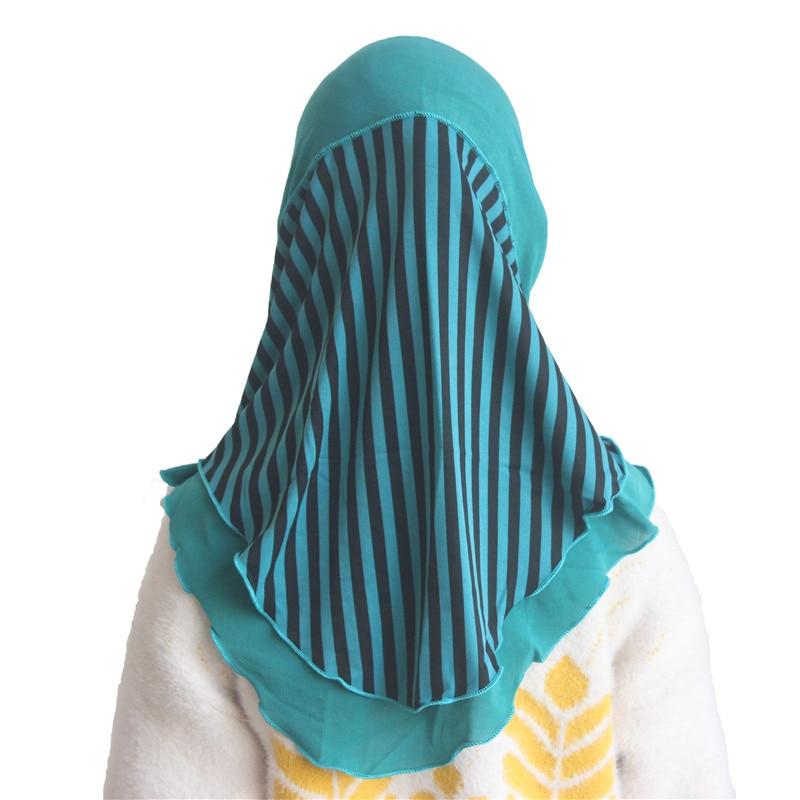Muslim Girls Kids Hijab Islamic Scarf