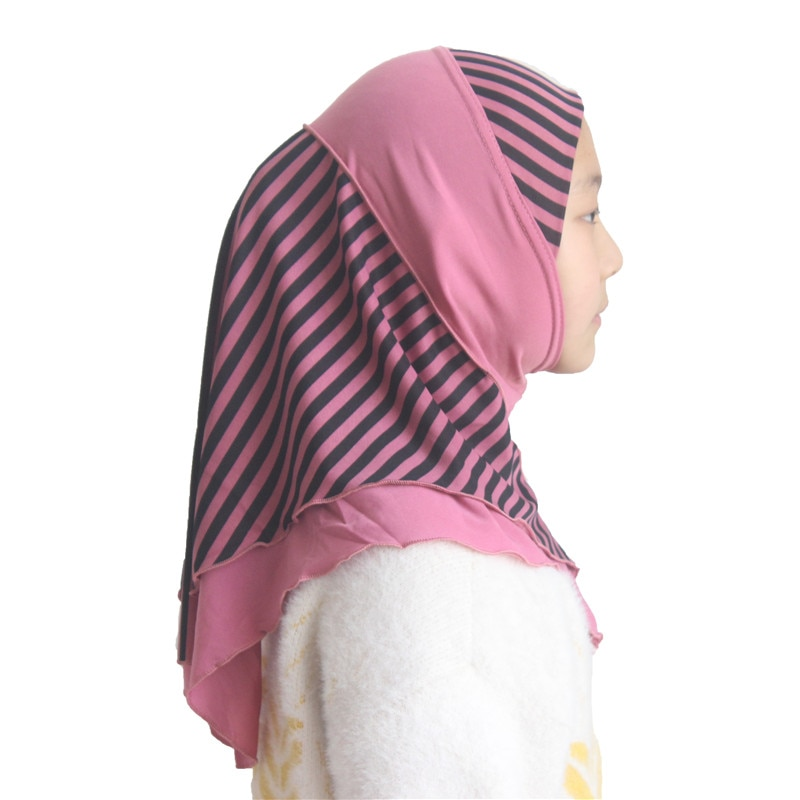 Muslim Girls Kids Hijab Islamic Scarf