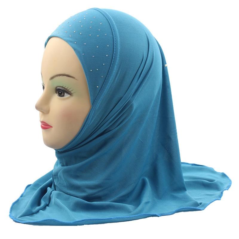 Muslim Kids Hijab Islamic  Scarf Beautiful Drill style for 2 to 7 years old Girls
