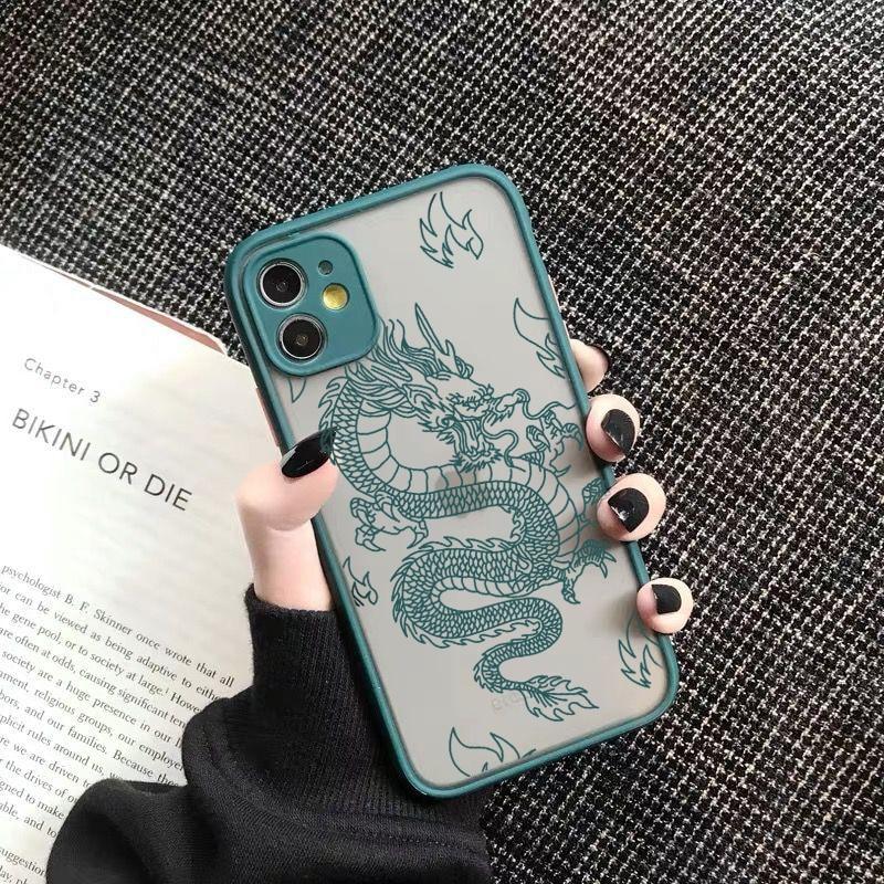 Remazy Fashion Dragon Animal Pattern Phone Case For iPhone 12 11 Pro XS MAX X 7 XR SE20 8 6Plus Hard Transparent Cover Matte Bag